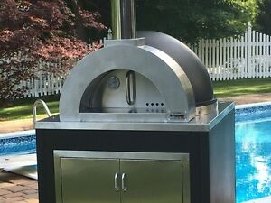 Ilfornino Elite Plus Wood Fired Pizza Oven Cabinet Black shipping Include