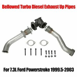 For 7 3l Ford Powerstroke 99 5 03 Bellowed Turbo Diesel Exhaust Up Pipes