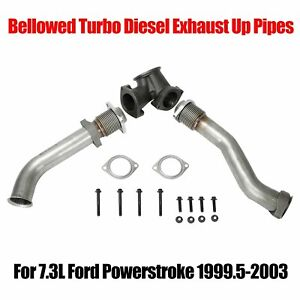 For 7 3l Ford Powerstroke 99 5 03 Bellowed Turbo Diesel Exhaust Up Pipes gasket