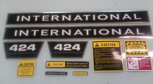 International 424 Hood Decals And More