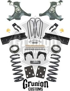 Chevy C1500 Silverado Extended Cab 1988 1998 4 6 Lowering Kit Belltech