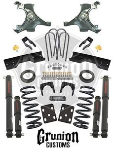 Chevy C1500 Silverado 1988 1998 4 6 Lowering Kit W Nitro Drop Shocks Belltech