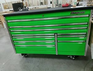 Snap On Ketn682a0pjj Epiq Green Tool Box With Powered Steel Black Coated Worktop