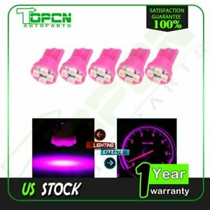 5x Pink purple T10 168 194 2825 Wedge 4smd Led Bulb For Car Interior Dome Lights