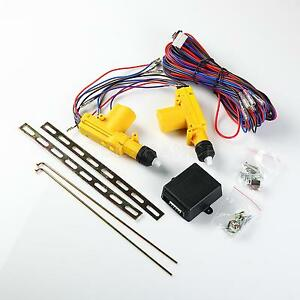 Auto Locking Actuator And Hardware Driver Two Door Master Power Lock Kit
