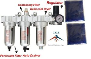 3 8 Compressed Air Filter Auto Drain Desiccant Dryer Good For Plasma Cutter