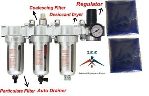 1 2 Compressed Air Filter Auto Drain Desiccant Dryer Good For Plasma Cutter