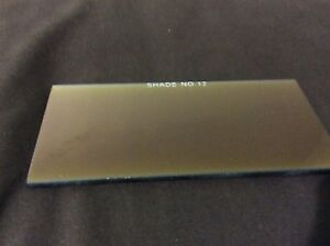 Shade 12 Welding Helmet Gold Filter Glass Lens 2x4 25 2x4