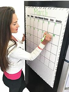 Giant Magnetic Calendar Monthly Blank Dry Erase Wall Calendar 24 x36