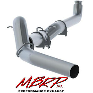 Mbrp 5 Inch Exhaust Down Pipe Back 2001 2007 Chevy Gmc Duramax 6 6l No Muffler