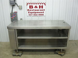 60 X 26 Stainless Steel Heavy Duty Cabinet Work Prep Table W Double Shelf 5