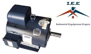 7 5 Hp 1740 Rpm 215t Single Phase Leeson Compressor Motor 140155