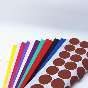 Colorful Diameter 3cm Round Kraft Paper Self Adhesive Label Stickers A4 Paper
