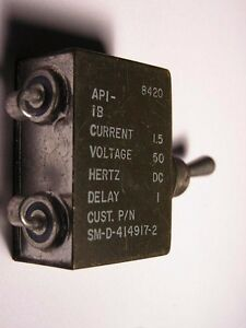 New 1pc Sm d 414917 2 Circuit Breaker Switch Toggle Dc 1 5a 50v Flying Part