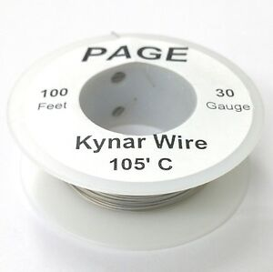 100 Page 30awg Grey Kynar Insulated Wire Wrap Wire 100 Foot Roll Made In Usa
