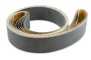 2 X 48 Inch 800 Grit Silicon Carbide Sanding Belts 6 Pack