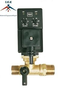 New Electronic Timed Tank Drain Condensate Valve For Compressor Air Tank Edv 1