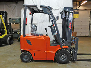 2018 Viper Fb15 3000lb Air Pneumatic Forklift 48v Electric Lift Truck Hi Lo