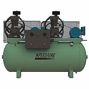 Speedaire Elec Air Compressor duplex 7 5hp 49cfm 35wc63