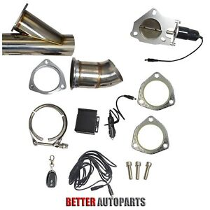 3 0 76mm Remote Electric Exhaust Cutout Downpipe Kit E cut Catback Valve System