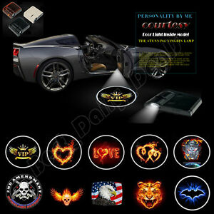 2x Courtesy Logo Wireless Car Door Welcome Laser Projector Shadow Led Light Gift