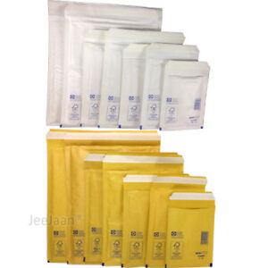 Strong Bubble Padded Envelopes Mailers Gold White Mail Postal Bags All Sizes