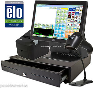 Corner Store Pos Retail All in one Station Complete System With Elo 4gb 15e2 New