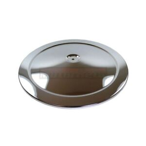 14 Chrome Air Cleaner Lid Top Cover Only For Chevy Mopar Ford Muscle Car Style