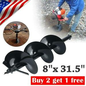 31 Inch Auger Post Hole Digger Bit Carbon Steel 8 Inch Wide Skid Steer Drill