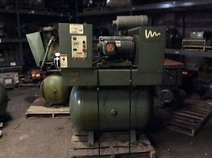 Joy 25hp Air Compressor 16 358hrs 208 230 460v 190 380v Nice Older Unit