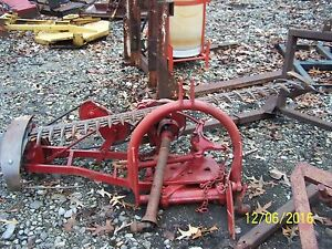 International Belt Driven 3pt Mower Haymower Also Ditch And Pond Banks
