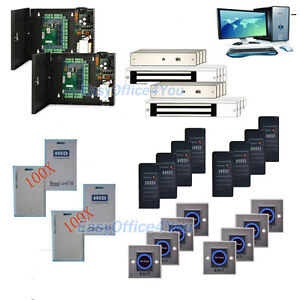 Proxcard Access Control 8 Door Control Kit For 280kg Magnetic Lock Entry System