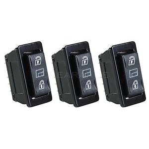 3 In 1 Universal Car Dpdt Momentary Power Window Switch Power Door Lock Control
