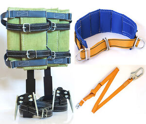 Tree Climbing Spikes Wide Belt Adjustable Lanyard