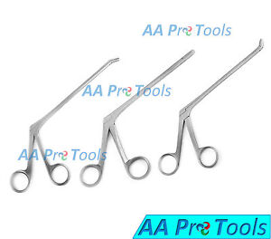 Aa Pro Set Of 3 Cushing Pituitary Rongeurs 7 2mm straight Up Down Ent Inst