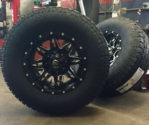 18 Fuel D567 Lethal Black Wheels 8x6 5 33 Toyo At Tires Package Chevy Dodge