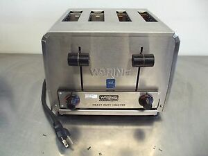 Waring Commercial Heavy Duty Toaster Wct810 4 Slice works Good 120volt s2625