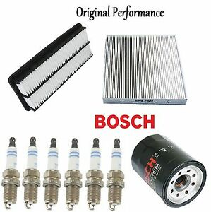 Tune Up Kit Cabin Air Oil Filters Spark Plugs For Acura Rl 2006 2007