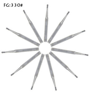50pcs Dental Carbide Burs Fg330 Pear shaped Type High Speed Tungsten Steel Burs