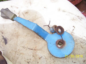 Vintage Ford 3600 Gas Tractor 3 Point Lever Friction Disc Outside