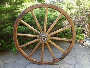 Chandelier Wagon Wheel Four Feet Tall Rustic Sturdy Solid Beautiful