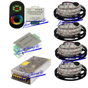 20m 5050 Rgb Led Strip Light Ip65 18a Touch Controller Amplifier 20a Power