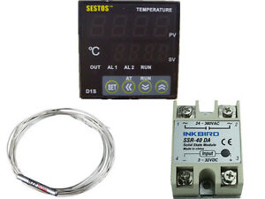 Sestos D1s vr 220 Digital Pid Temperature Controller Pt100 40 Ssr Relay Fan