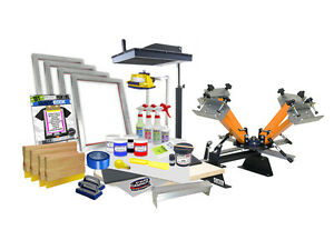 Diy 4 Color Shocker Start up Screen Printing Kit Press Flash Dryer 41 6