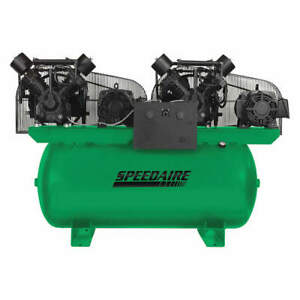 Speedaire Elec Air Compressor duplex 15hp 100cfm 35wc65