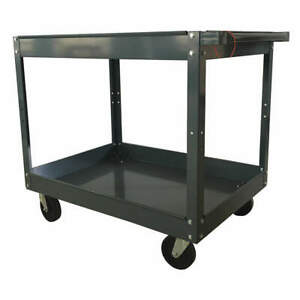 Grainger Approved Steel Unassembled Utility Cart 38 3 4 L 500 Lb 3w137 Gray