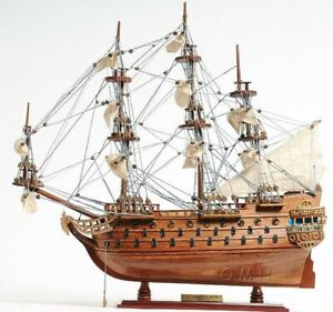 San Felipe Spanish Armada Galleon Tall Ship 19 Wood Model Sailboat Assembled
