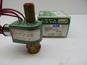 Asco Red Hat T8314c6 Air 160 Water 160 Lt Oil 160 Volts 120 60 1 4 Pipe