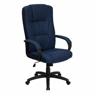 Flash Furniture Navy Blue Fabric Executive Swivel Office Chair Bt 9022 bl gg