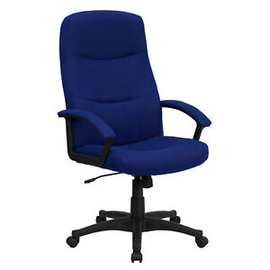 Flash Furniture Navy Blue Fabric Executive Swivel Office Chair Bt 134a nvy gg